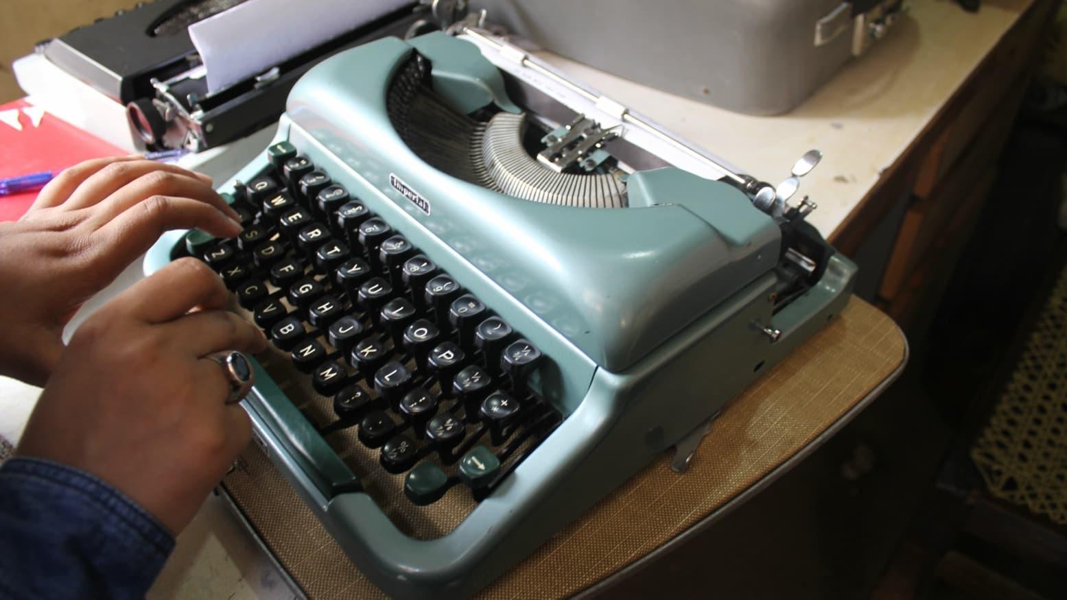 Typing on a typewriter takes some doing