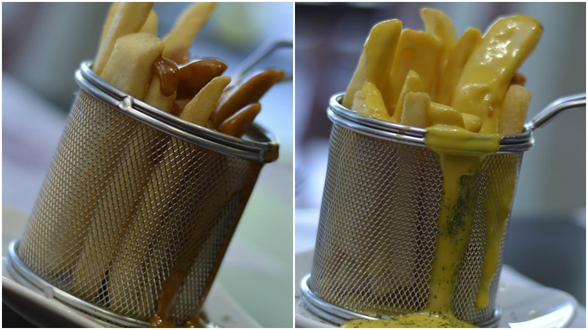 There are fries to suit every palate, from honey mustard (left) to jiang fries - Publicity photo