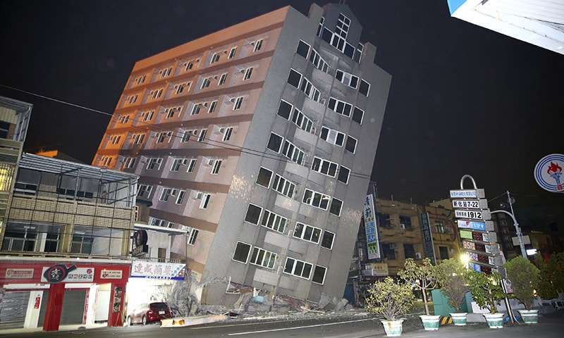 Seven dead after powerful Taiwan quake fells buildings
