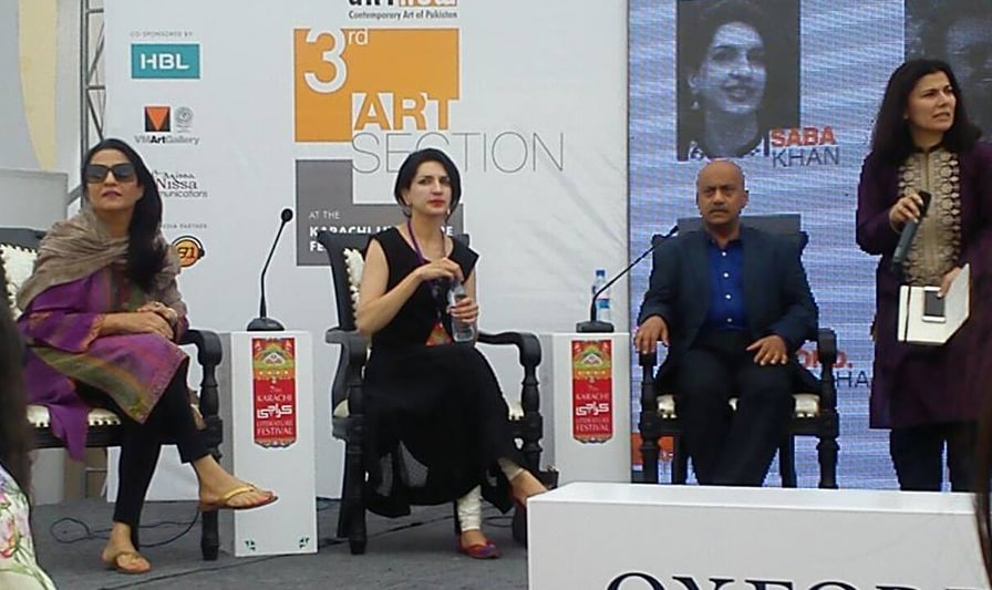 Locating Art, moderated by Sumbul Khan. Photo: Dawn