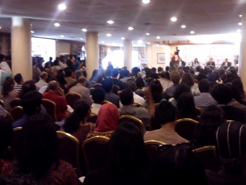 A full house in 'What's liberal about the liberal arts?' Photo: Dawn