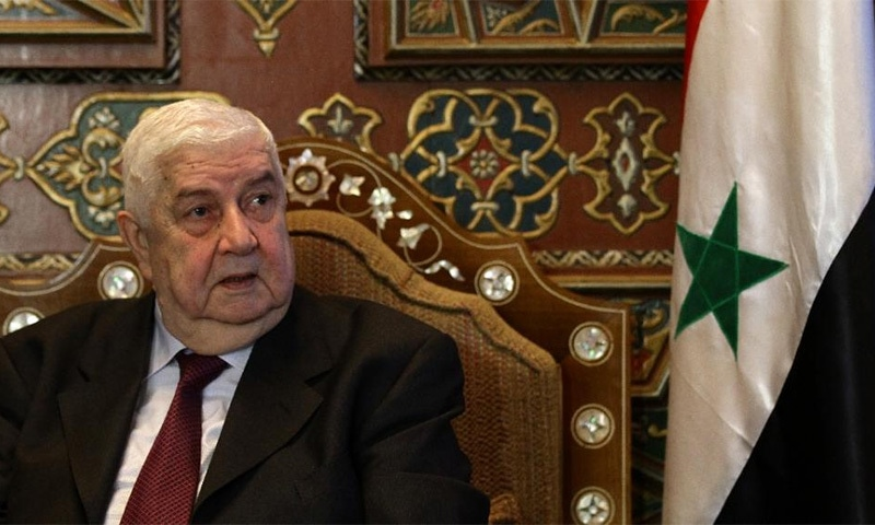 "Syria's foreign minister Walid al-Moallem warns that Saudi or other foreign troops entering his country would ""return home in wooden coffins"".─ AFP/FIle"