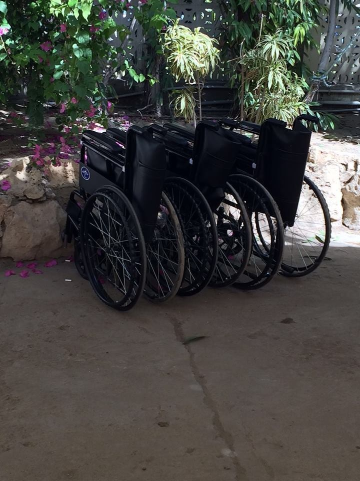 Wheelchairs have been arranged for the elderly and the differently-abled. Take cue, everyone. Photo: Dawn