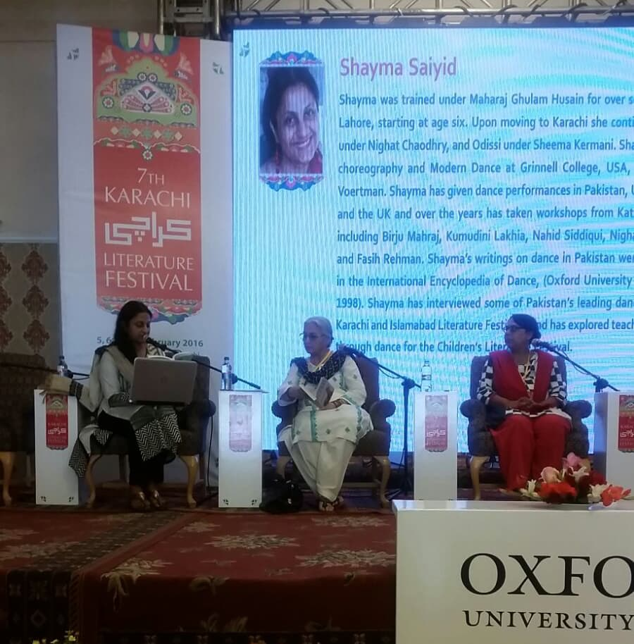 Khawar Mumtaz in the panel about short stories. Photo: Dawn
