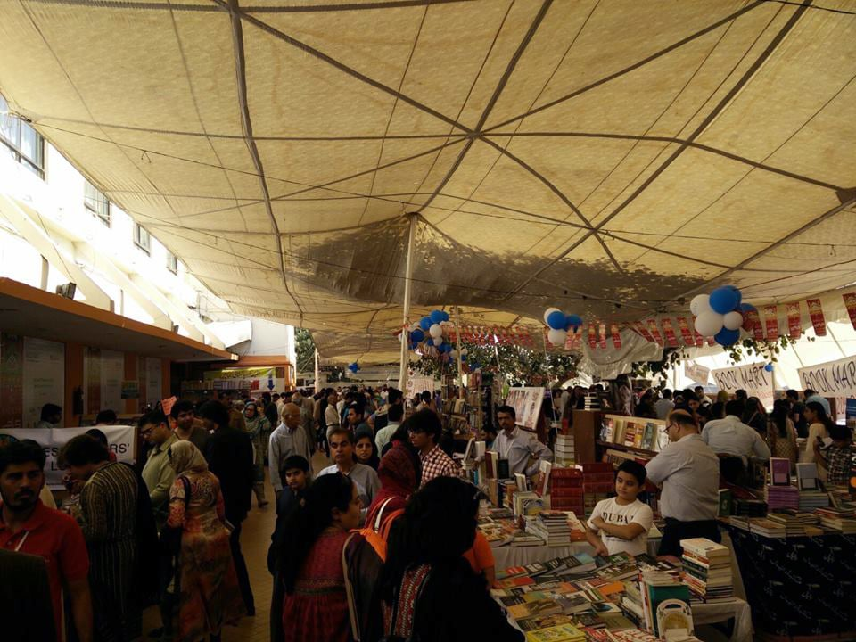 The booksellers area has been packed with people all day. Photo: Dawn