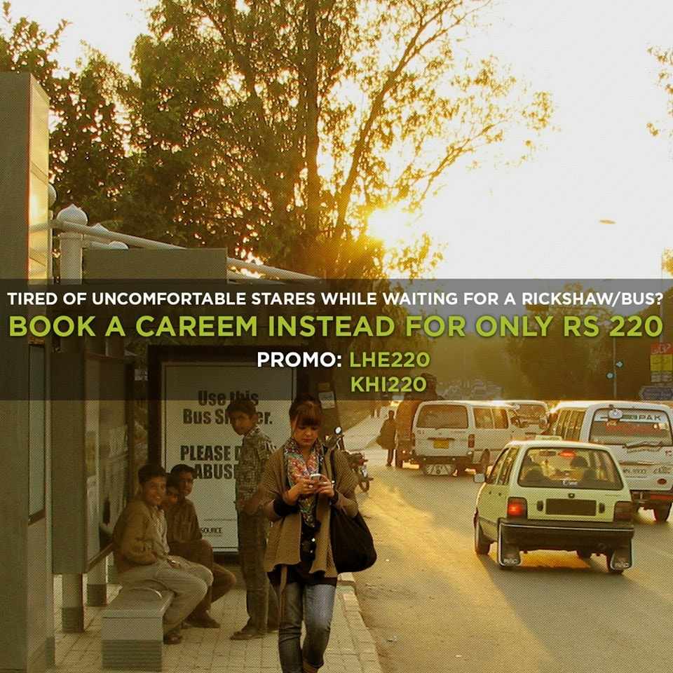 Careem's advertising targets women in this one campaign. — Photo courtesy: Careem
