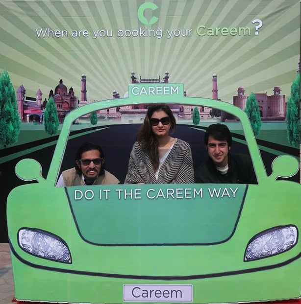 Amidst other efforts to localise its product, Careem has been setting up pop-up photo booths at various festivals and venues, where the general public can come take a photo and learn more about the app. —Photo courtesy: Careem