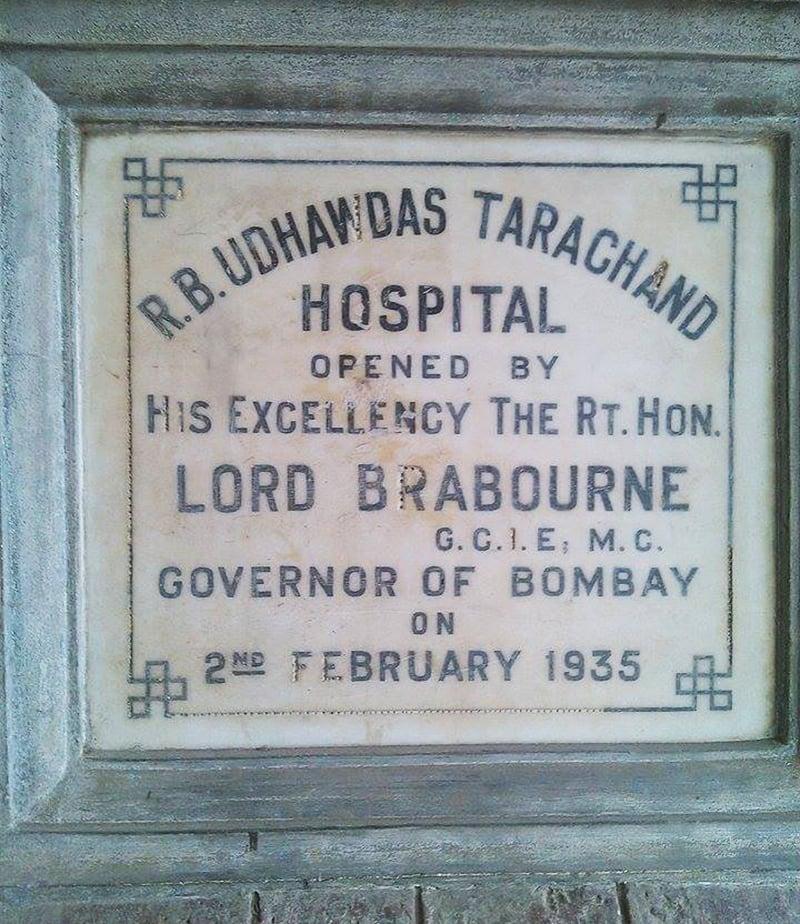 ہسپتال کا افتتاح اس وقت کے بمبئی کے گورنر لارڈ برابورن نے کیا تھا۔ تصویر بشکریہ زبیر ہکڑو