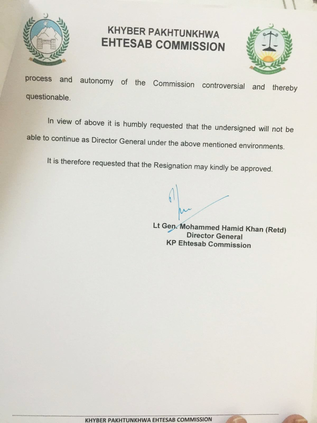 Kp accountability chief resigns in protest pakistan dawn page 3 of dg kpecs resignation letter aljukfo Gallery