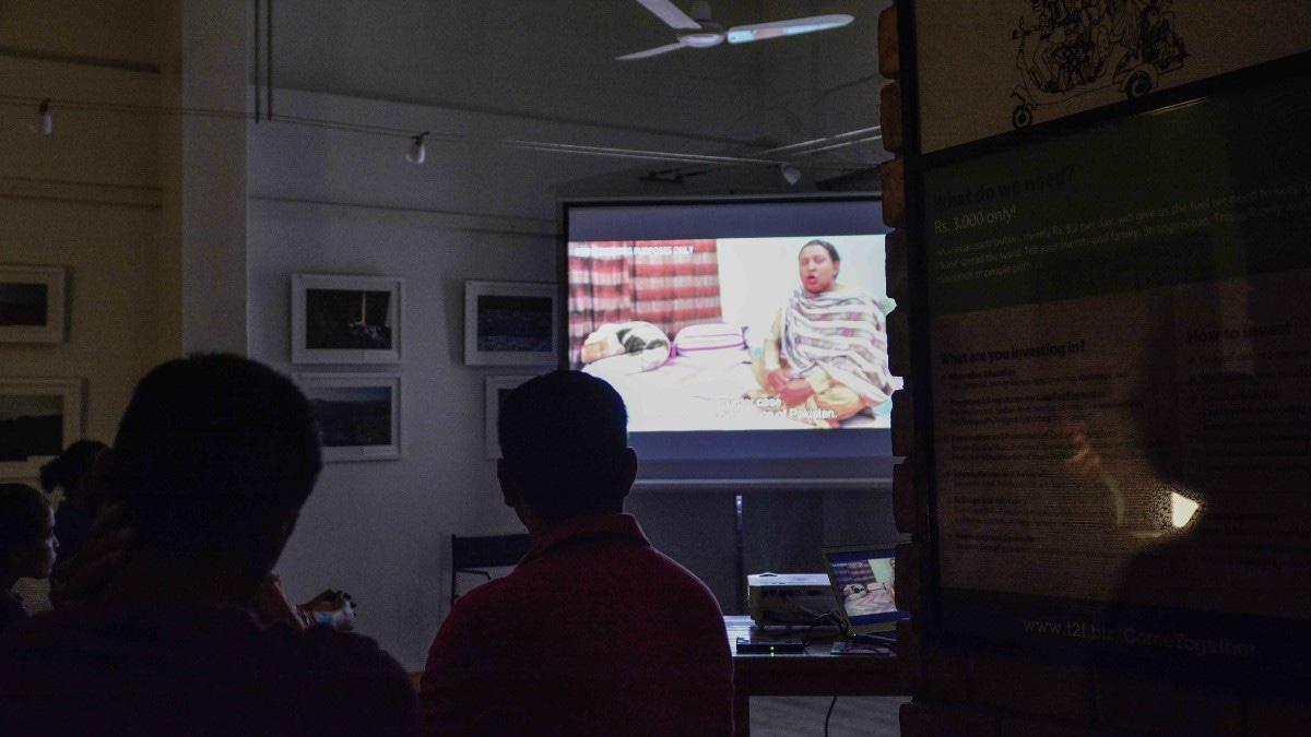 The documentary screening. —Photo by Humayun Memon