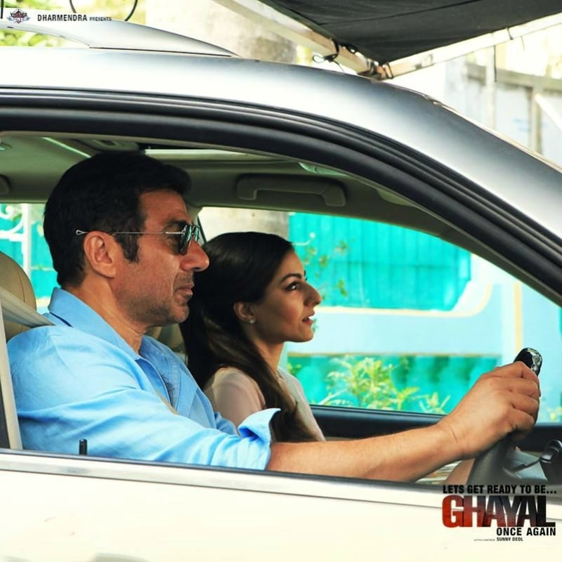 Soha Ali Khan plays the leading lady opposite Sunny Deol in Ghayal Once Again - Photo courtesy Now Running