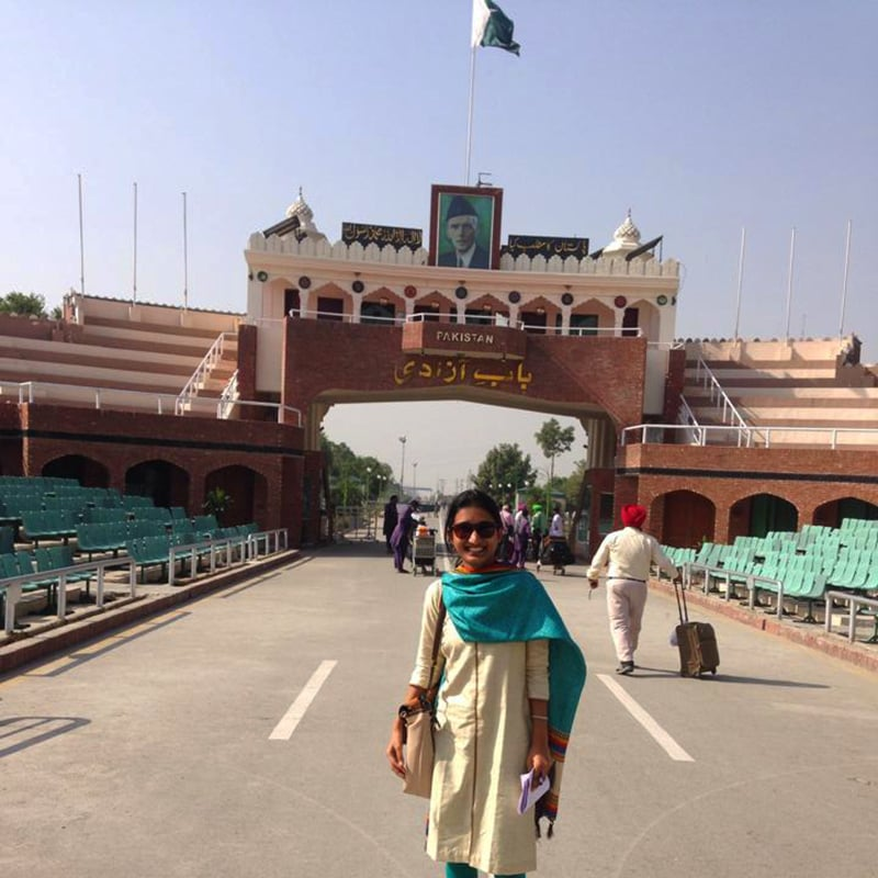 The author at the Wagah border. —Photo by author