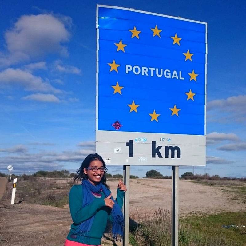A kilometre away from Portugal. —Photo by author.