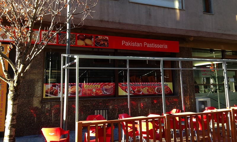 The Pakistani restaurant in Andorra. —Photo by author