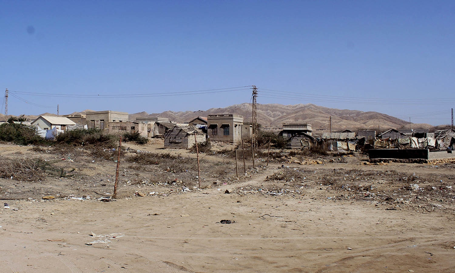 Mubarak Village's residents live with zero facilities. —Photo by the author