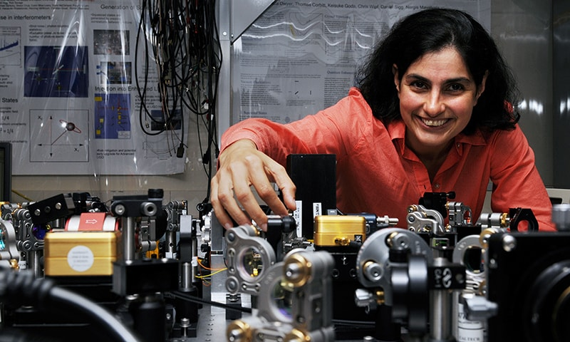 MIT Quantum Astrophysicist Nergis Mavalvala in an MIT lab, September 20, 2010 in Cambridge, Massachusetts.— Courtesy MacArthur Foundation