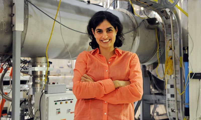 MIT Quantum Astrophysicist Nergis Mavalvala in an MIT lab. — 2010 MacArthur Foundation