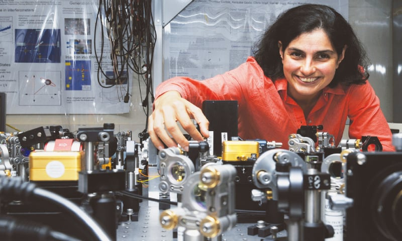 CAMBRIDGE: Quantum astrophysicist Nergis Mavalvala pictured in an MIT laboratory in Massachusetts in this file photo.