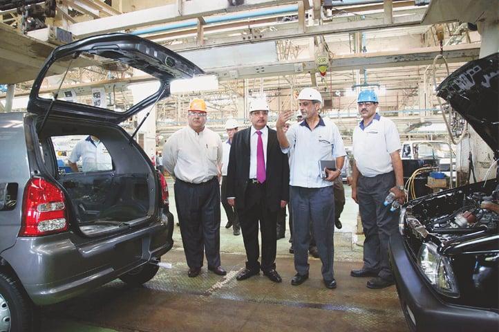 A Suzuki plant in Karachi.