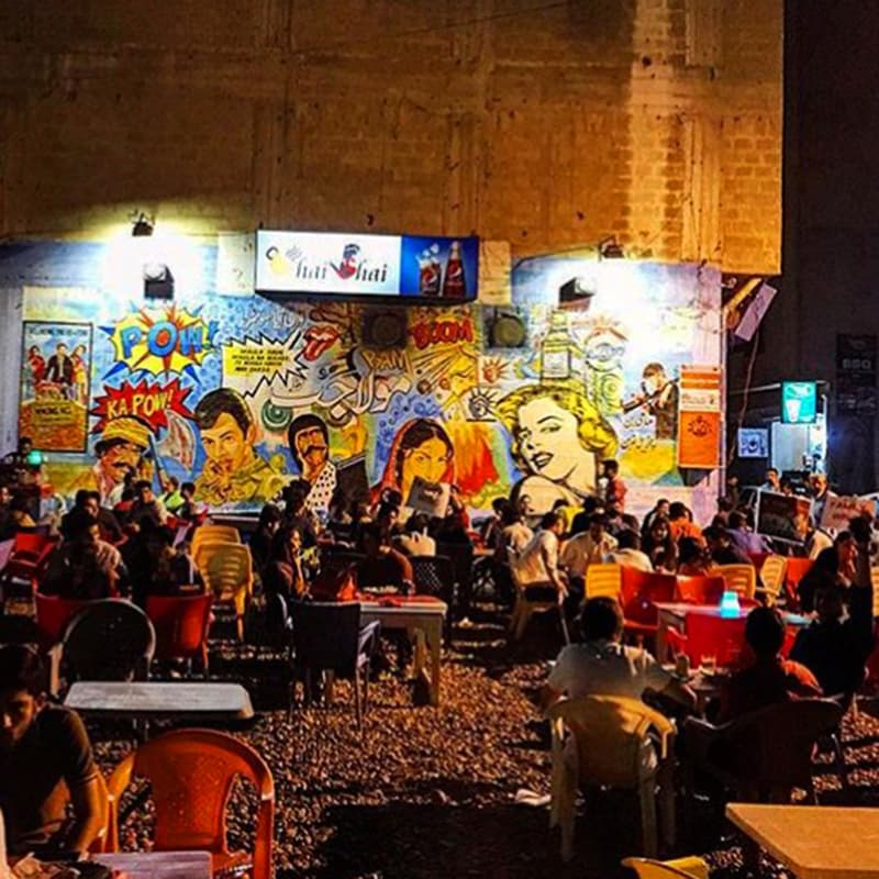 "Afeef enjoyed ""Chai Shai"" in Karachi. —Photo provided by author"