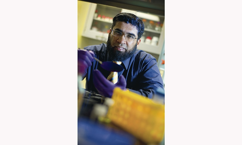 Dr Samir Iqbal, Associate Professor in the Department of Electrical Engineering, University of Texas at Arlington. – photo courtesy University of Texas at Arlington