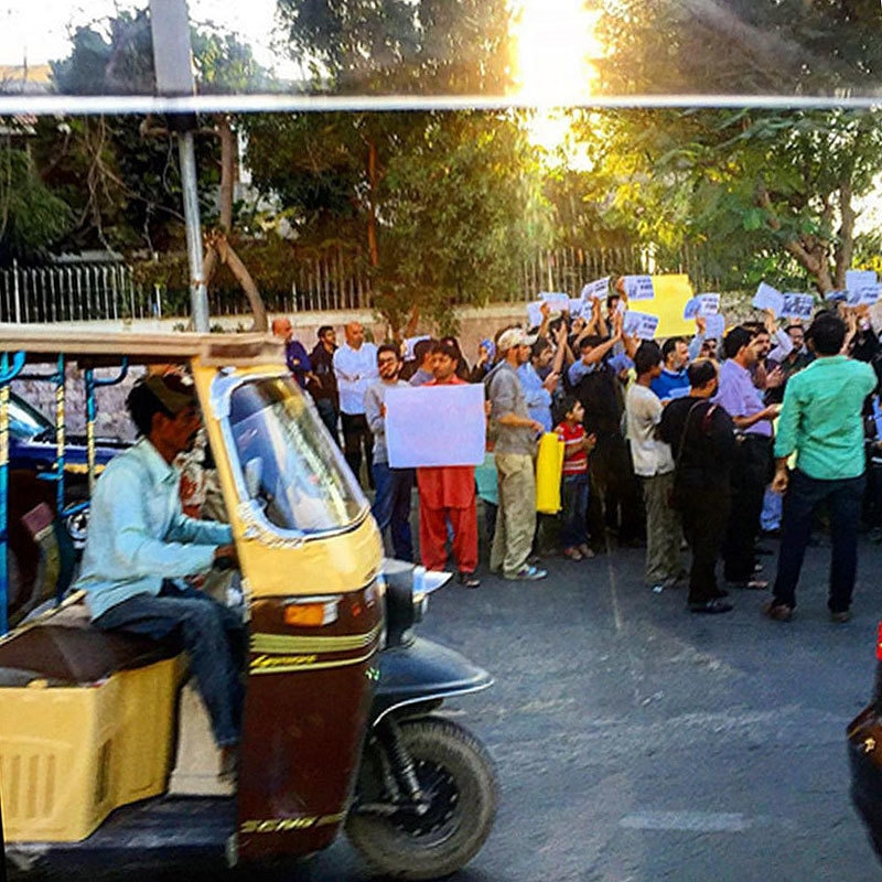 Afeef also witnessed a protest in Karachi. —Photo provided by author