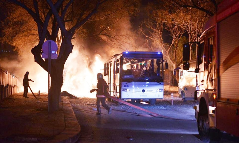 28 killed in Ankara car bomb attack on military