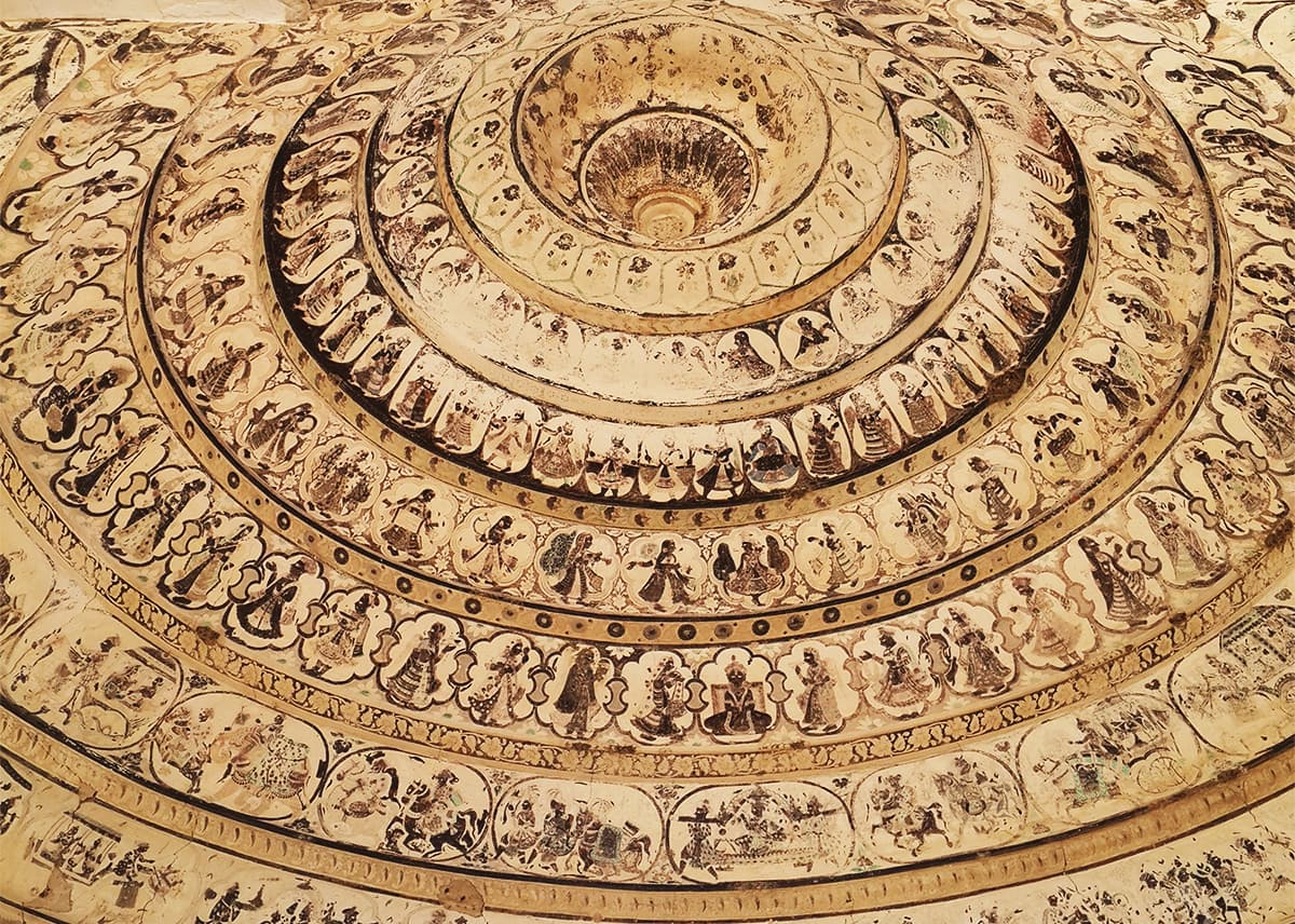 Fresco art inside one of domes.  — Photo by author