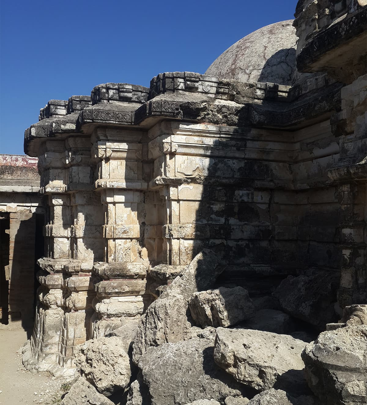 The partially-destroyed portions of the temple. — Photo by author