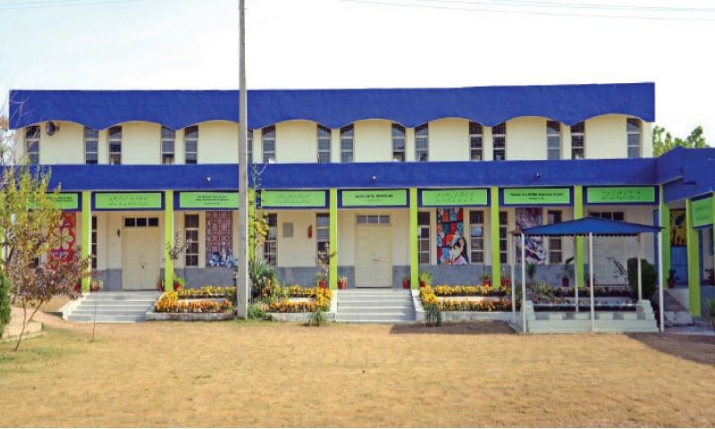 The renovated Khaula Shaheed Model College.— Photo by Khurram Amin