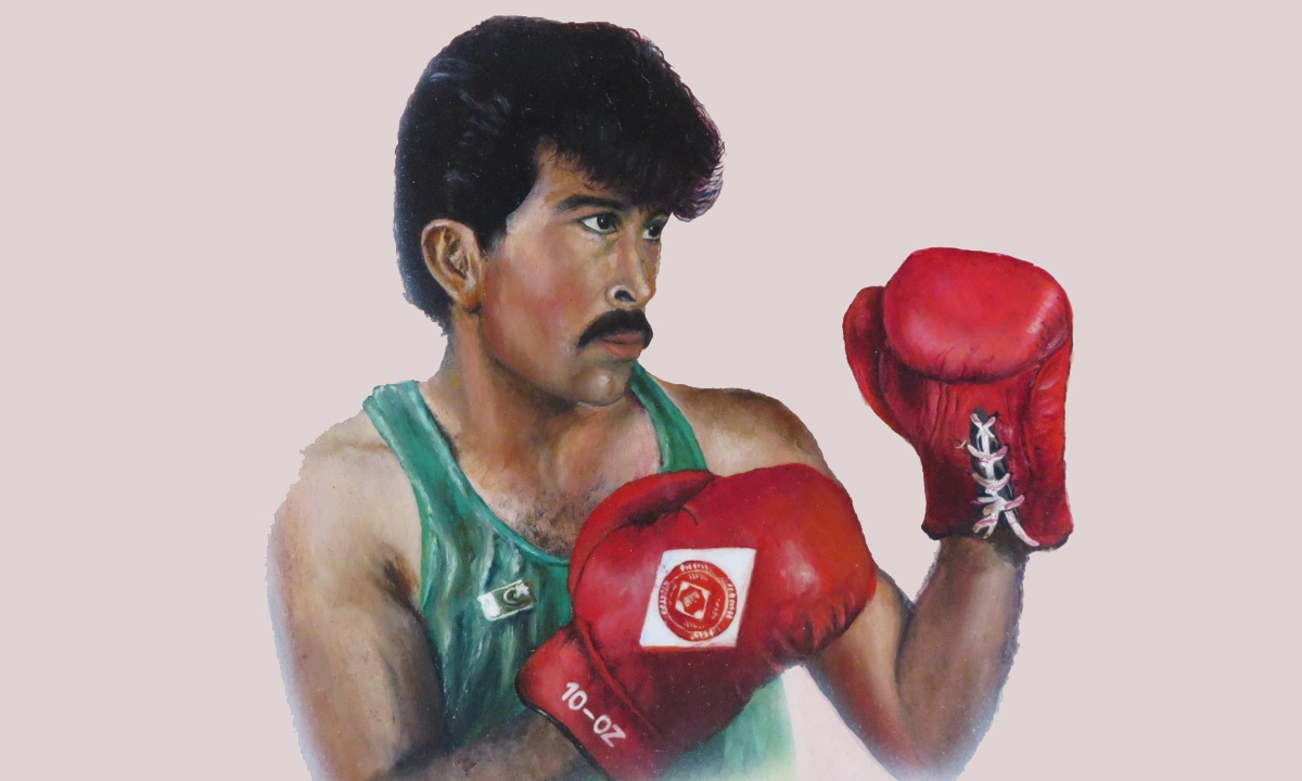 Syed Ibrar Hussain, the celebrated Hazara boxer