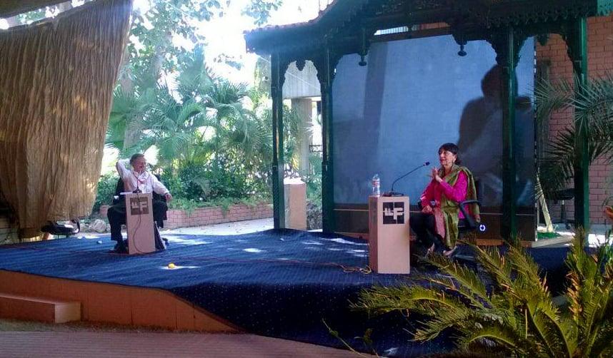 Madhur Jaffery with Asif Noorani. Photo: Dawn