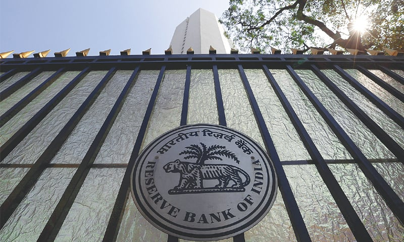 The Reserve Bank of India seal is pictured on a gate outside the  RBI headquarters in Mumbai. New Delhi is preparing to pump in a  higher-than-anticipated capital sum — as much as $34bn additionally — into poorly performing state banks, government sources said, but it could make it harder to hit planned deficit targets.—Reuters file photo
