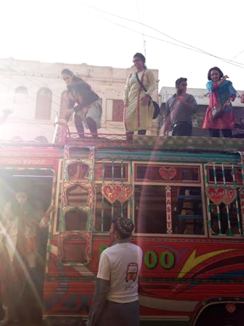 Me atop the Super Savari Express in Karachi. —Photo provided by author