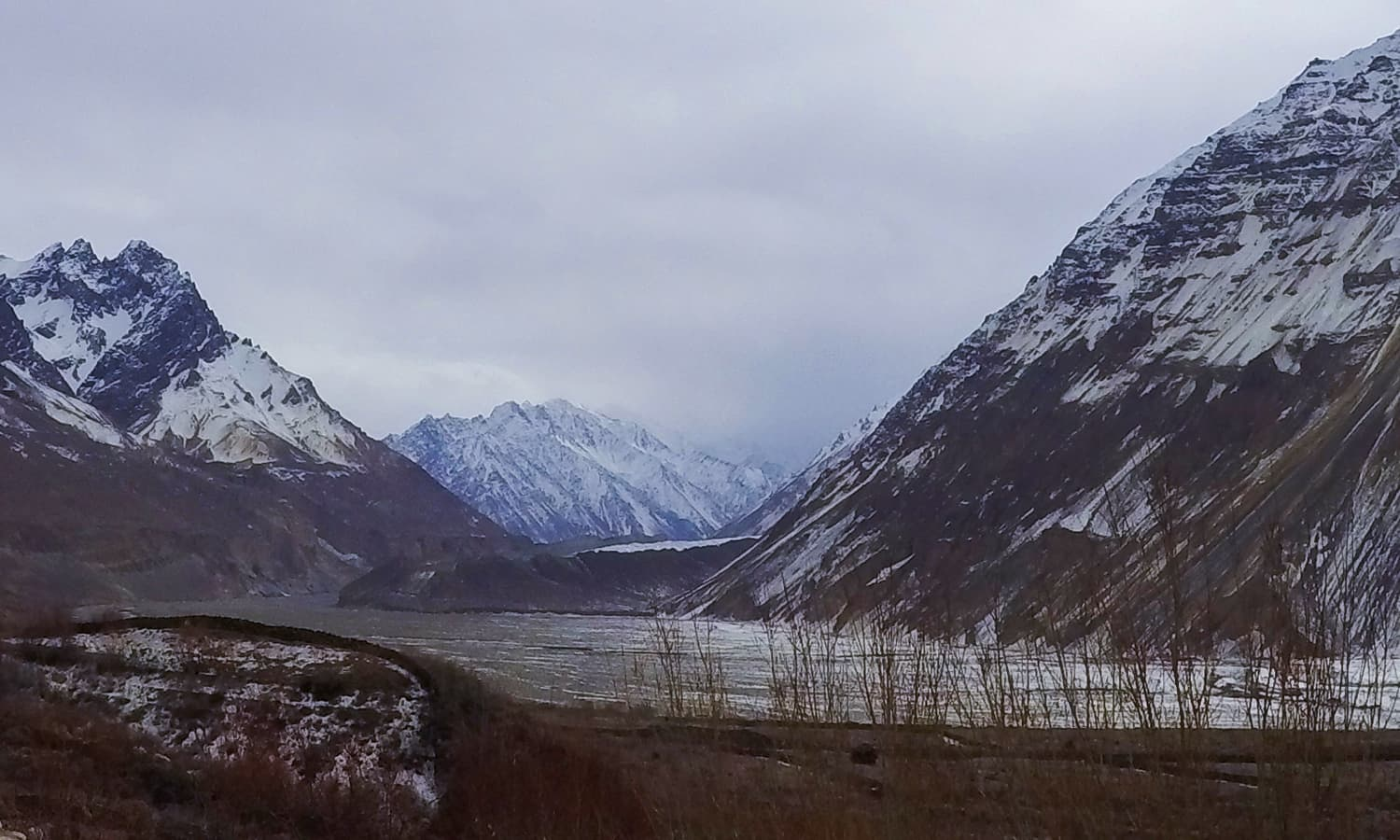 Malangoti Glacier is in the distance. This photo doesn't do justice to its beauty. — Photo by author