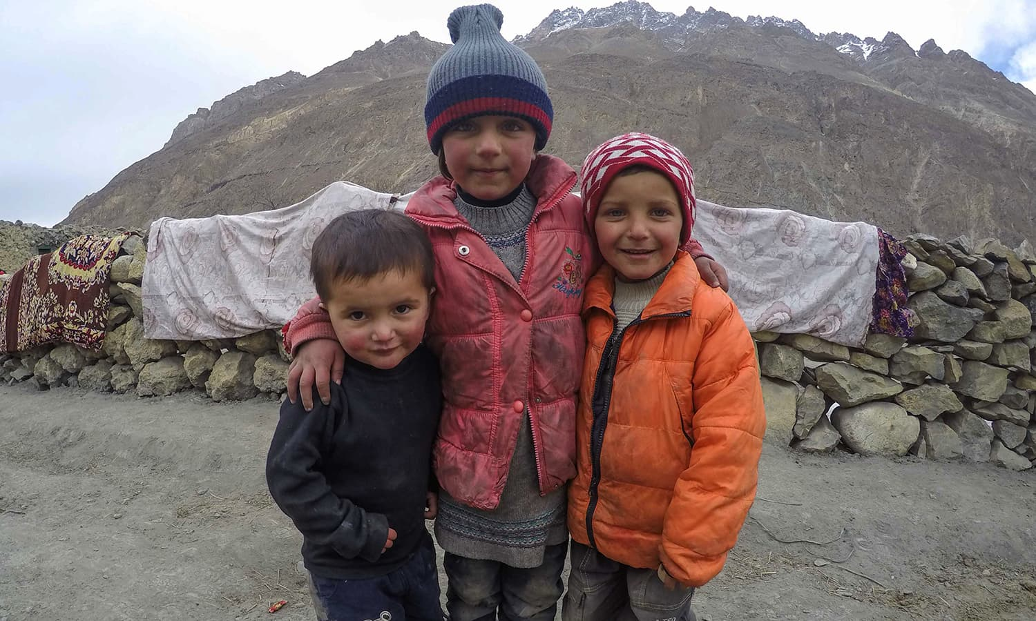 Mirza and Samina's nephews in Shimshal. They were playing football when we got back to the village. — Photo by author