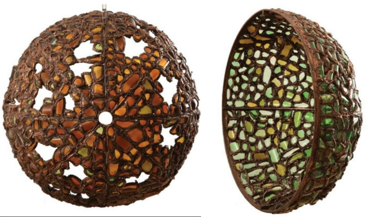 Amber Moon, Green Moon 2015. Copper and glass, 48 x 48 x 25 inches - Photo courtesy Art Now Pakistan