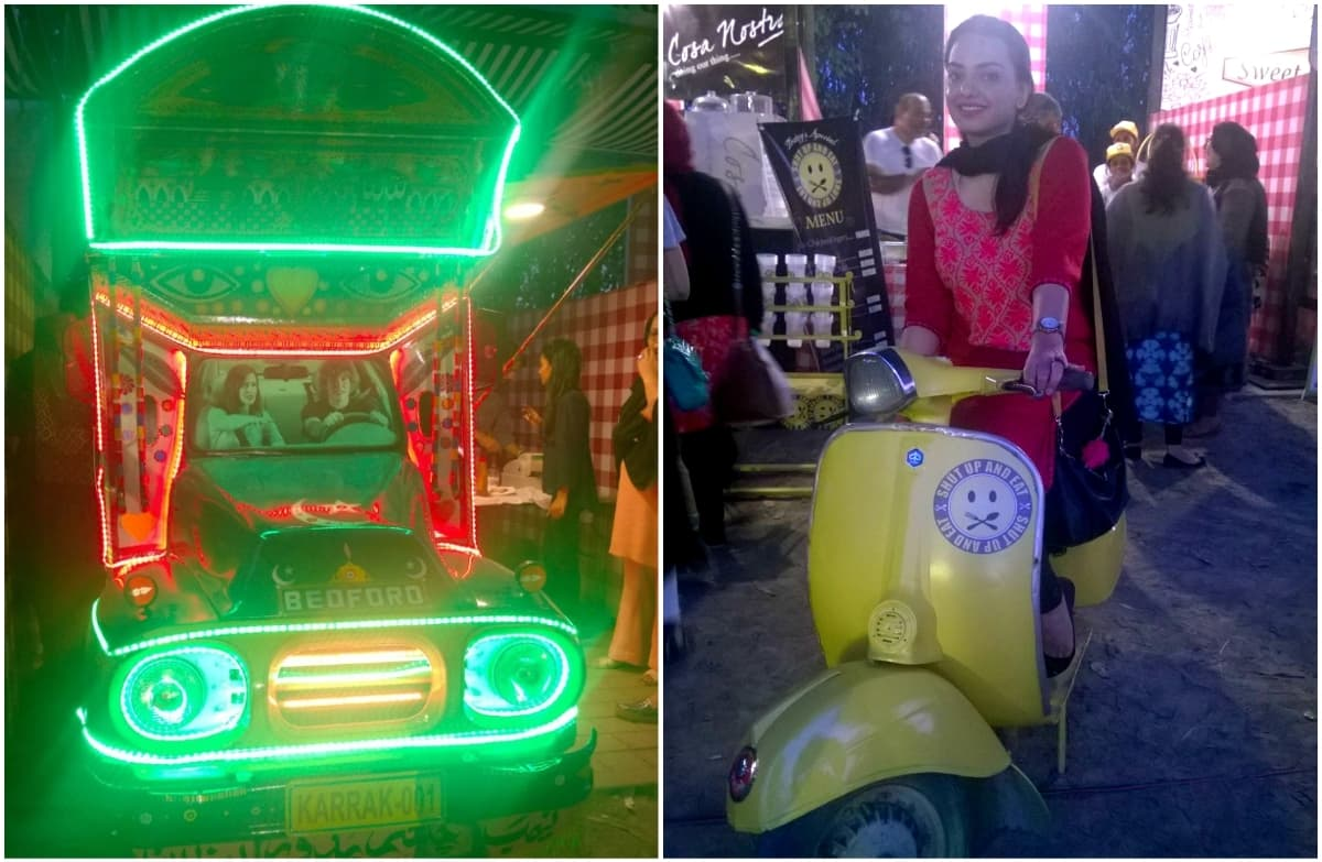 Lahore Eat visitors got a kick out of these vehicular attractions