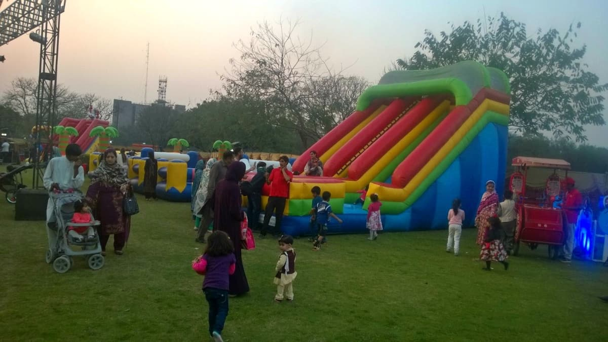 Jillani Park was spacious, beautifully done up and ideal for Lahore's first food fest