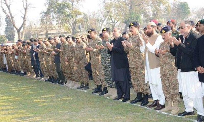 نماز جنازہ میں صوبائی وزراء نے بھی شرکت کی  — فوٹو : بشکریہ آئی ایس پی آر