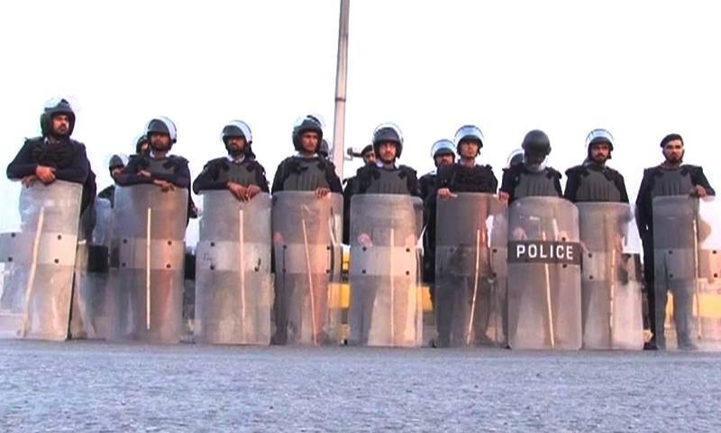 Strict security measures were taken in wake of Qadri's execution.—DawnNews