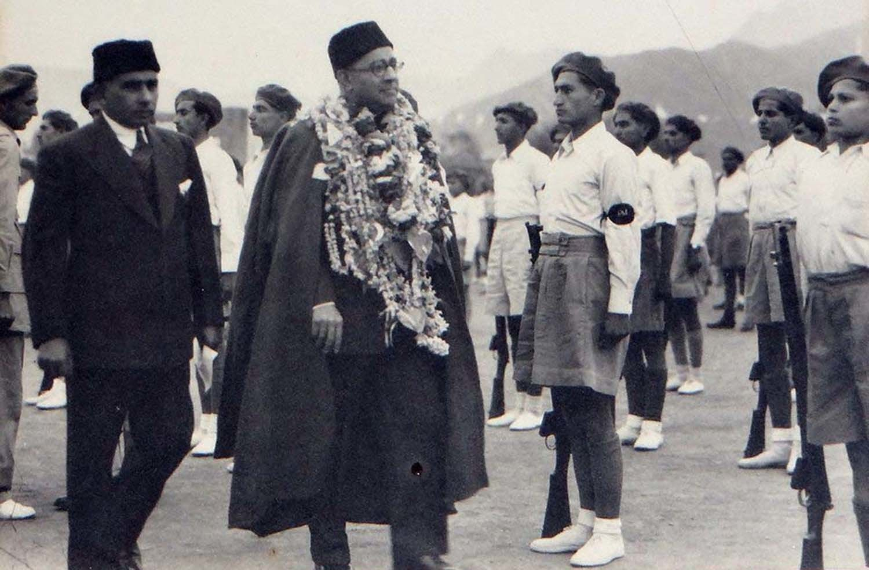 Former Prime Minister Liaqat Ali Khan on his visit to Swat, wearing a Karakul cap and Swati Cloak. ─Photo courtesy Swatnama