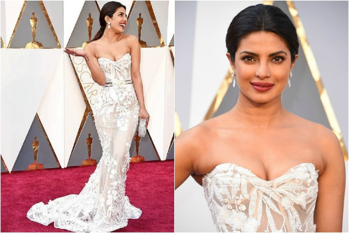 Piggy Chops should consider taking some style advice from Sonam Kapoor perhaps — that bodice is a size too small!