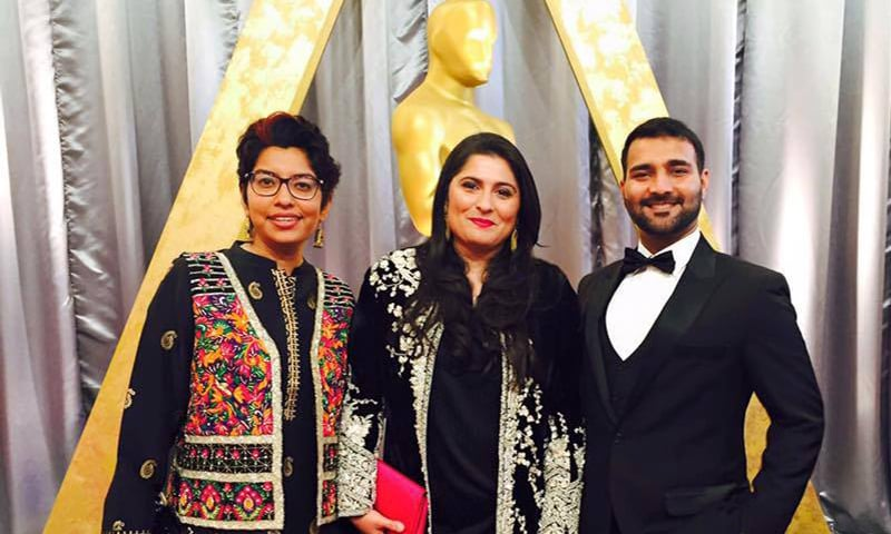 Haya Fatima and team at the Oscars.— Haya Fatima facebook page