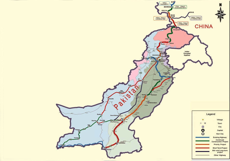 Highway network planned for CPEC.—Courtesy: Planning Commission