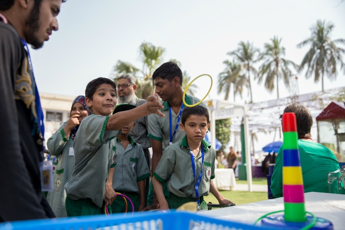 The kids enjoyed fun-filled afternoons this weekend at the SCEI Spring Festival - Photo by Zoral Khurram