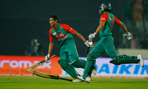 Asia Cup: Bangladesh hold nerve to beat Pakistan, reach final