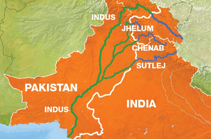 Indus river route -Photo courtesy Al Jazeera