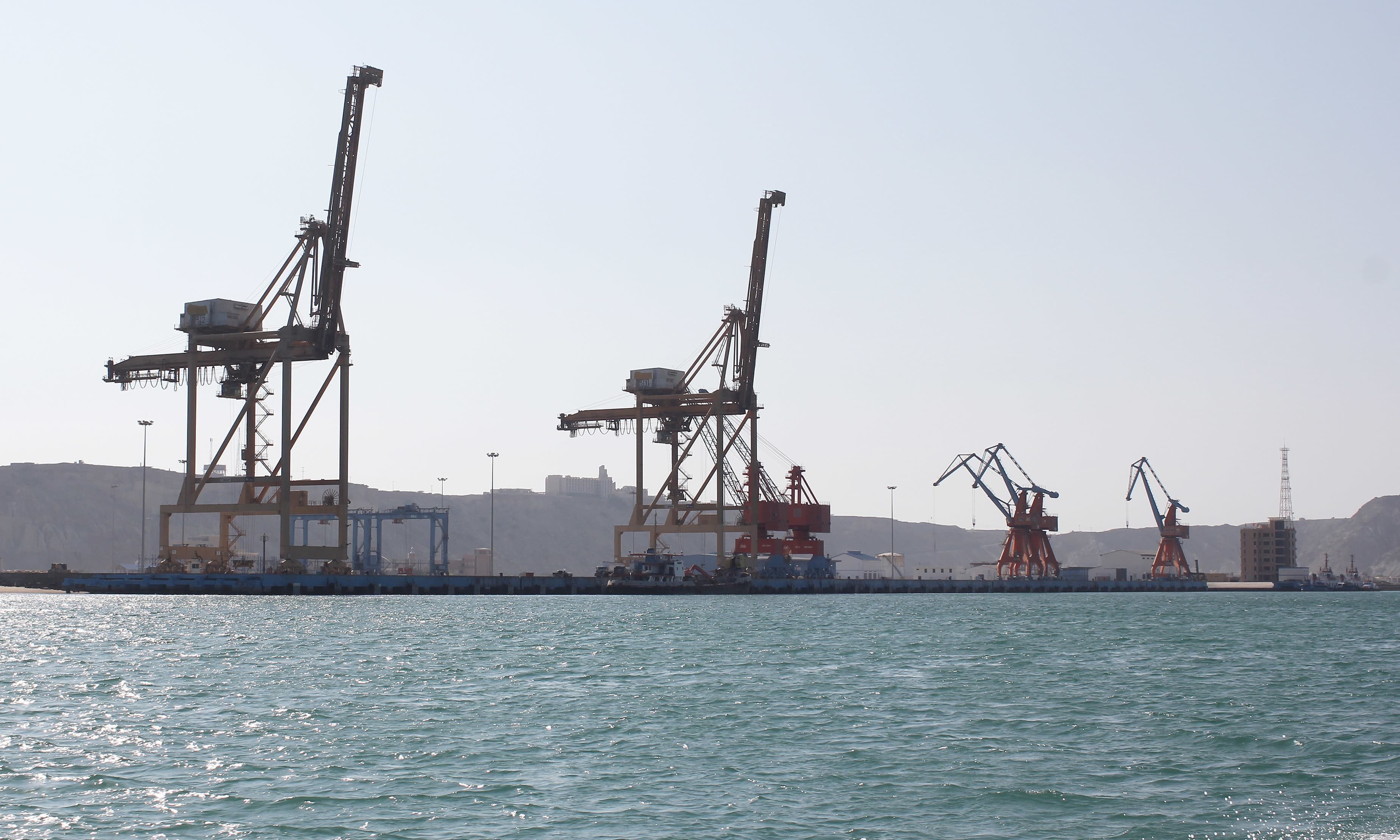 A view of the Gwadar port from the sea.