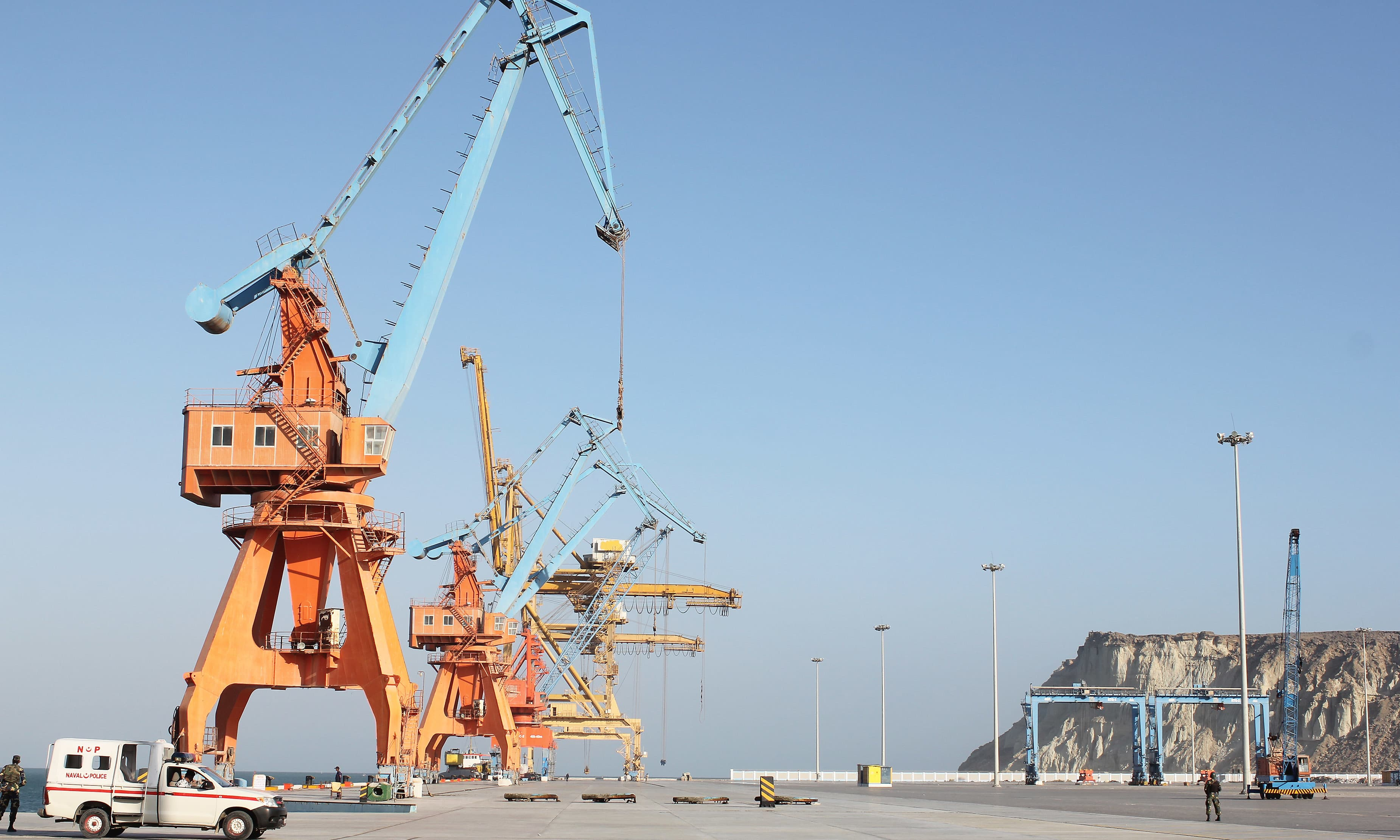 The Gwadar port.